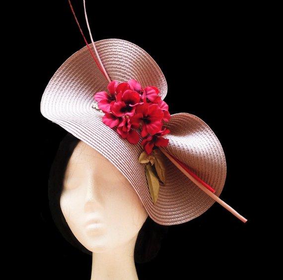 Свадьба - Flower wedding hat. Kentucky derby. Ascot hat.
