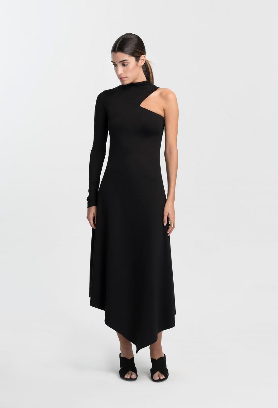 Свадьба - Cut Out Maxi Dress / Extravagant Dress / One Shoulder Dress / Cocktail Dress / Asymmetric Dress / Marcellamoda - MD1013
