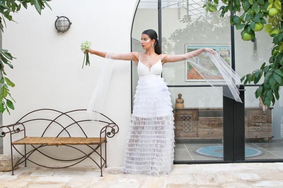 Свадьба - Ivory Wedding Dress, Boho Wedding Dress, Maxi Wedding Dress, Lace Wedding Dress, Tulle Wedding Dress, Long Wedding Dress, Boho Wedding,Beach