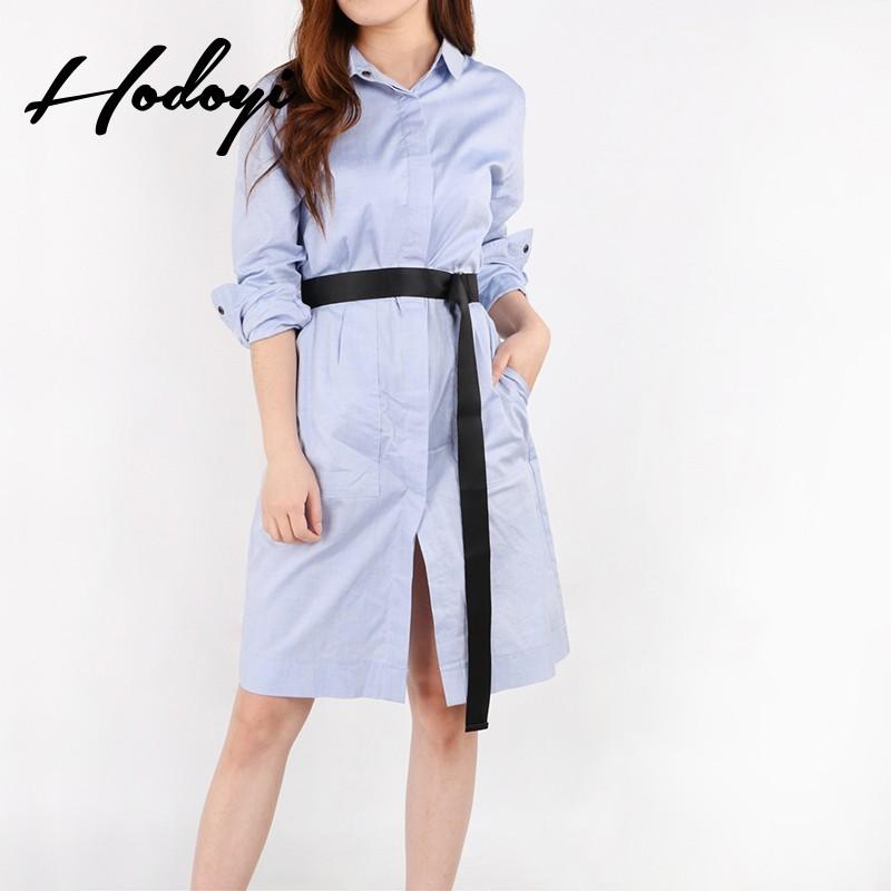 Wedding - Vogue Attractive Curvy Summer Tie 9/10 Sleeves Blouse Dress - Bonny YZOZO Boutique Store
