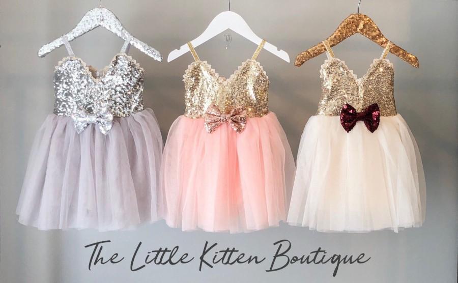 9057043755b Blush Pink Tulle Flower Girl Dress