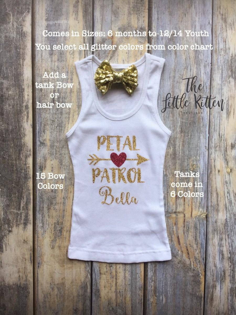 c41d8e4a6 personalized flower girl shirts, gifts for flower girls, petal patrol t- shirts, flower girl proposal gifts, flower girl tanks with name