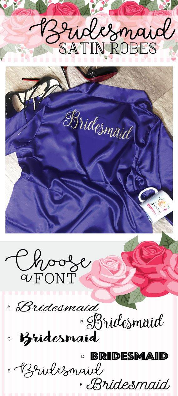 Mariage - Personalized Robes, Personalized Bridal Party Robes, Personalized Bridesmaid Robes, Personalized Bride Robe, Personalized Wedding Robe