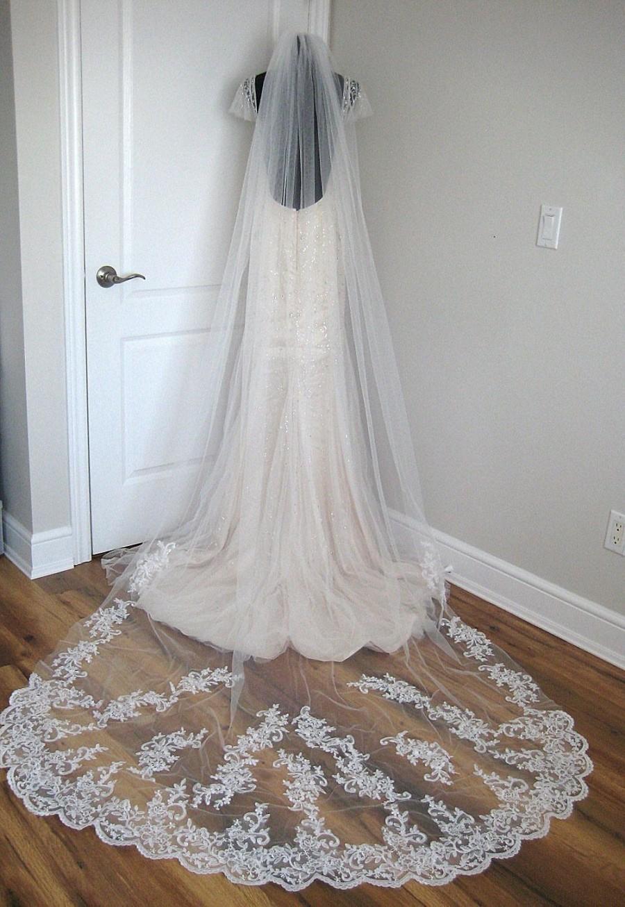 زفاف - Cathedral lace veil - Blake