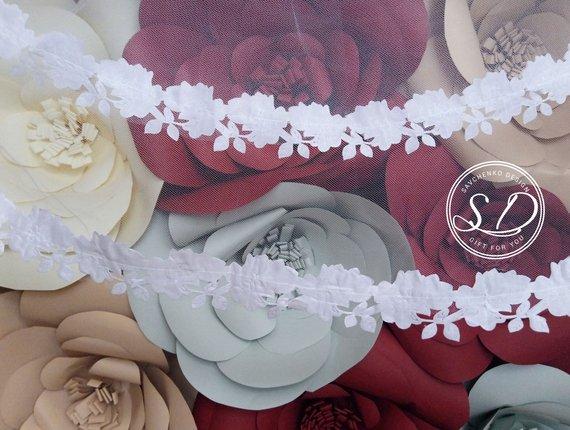 Свадьба - Floral Wedding Veil Lace Bridal Veil Juliet Cap Veil Ivory Lace Veil Draped Wedding Veil Lace Trim Veil 3D Floral Veil veil with lace beads