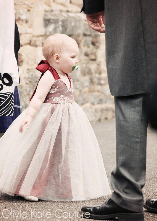 Mariage - Flower Girl Dress . Toddler