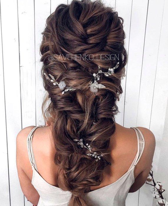 Bridal Flower Hair Vines For Wedding Pearl