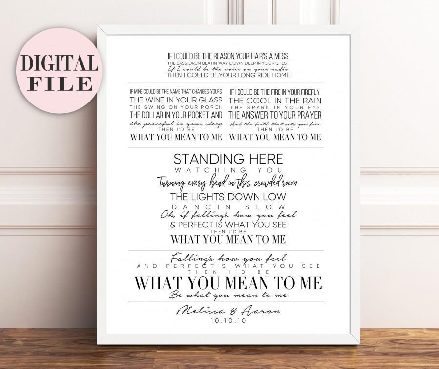 Brett Eldredge Mean To Me Wedding Song Lyric Art