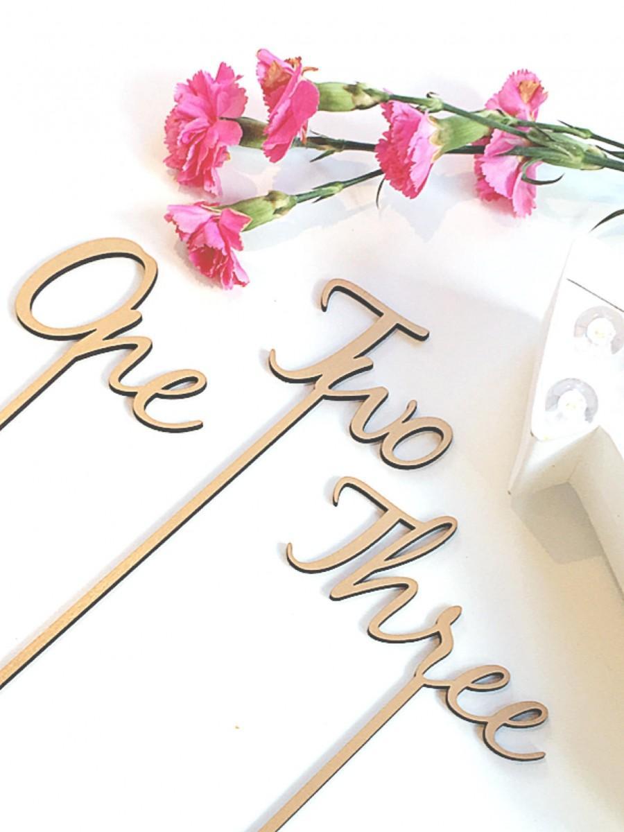 زفاف - Wooden Table Numbers - Table Numbers on Sticks - Freestanding Table Numbers - Wedding Table Numbers Small
