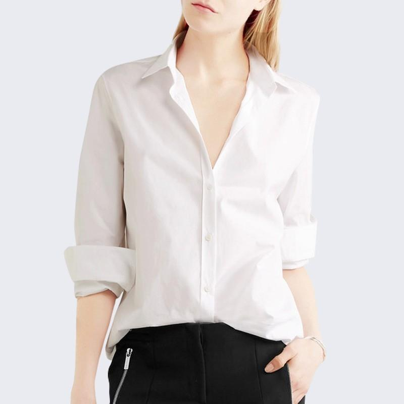 Свадьба - Must-have Office Wear Oversized White Summer 9/10 Sleeves Blouse Basics - Bonny YZOZO Boutique Store