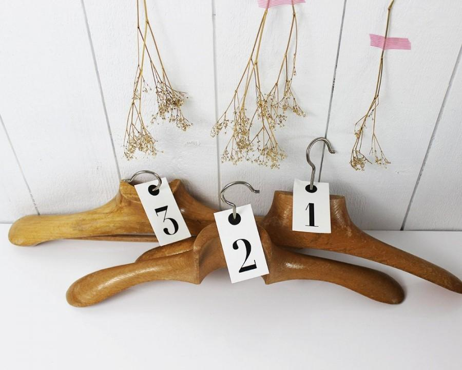 Mariage - French Wooden Coat Hanger Vintage Bridesmaid Hangers Wood