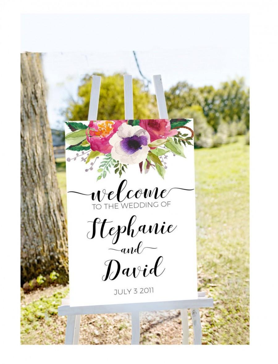 Свадьба - Printable Wedding welcome sign, welcome to our wedding, welcome sign, welcome sign, printable welcome sign, gold wedding sign, wedding signs