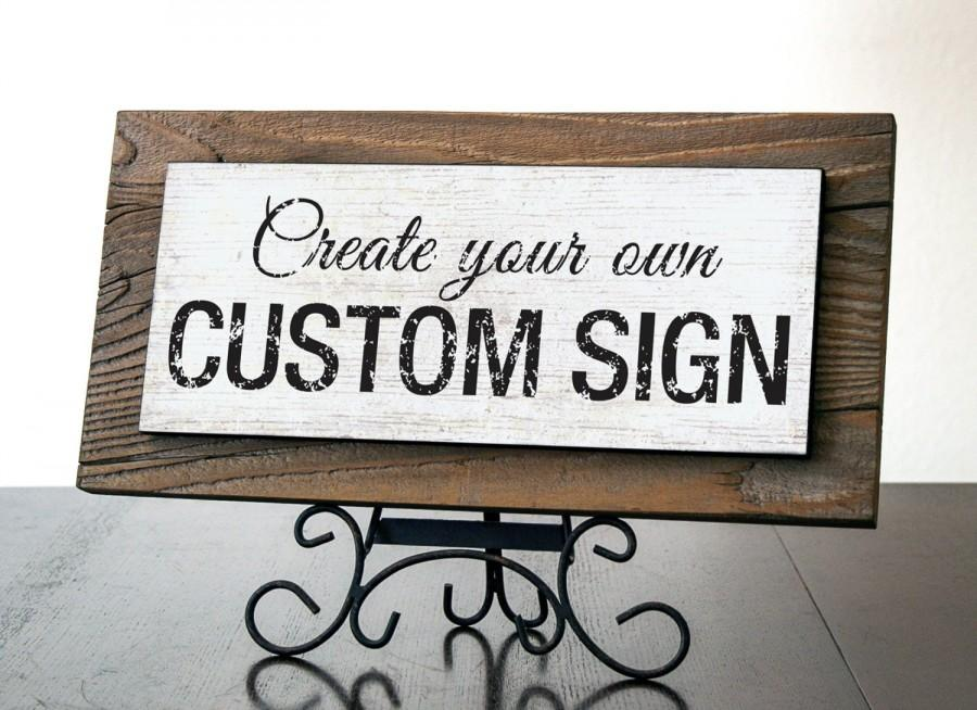 Wedding - Custom Sign . Rustic Reclaimed Wood Signs. Custom Quote Sign. Business Sign. Office Decor. Office Sign. Personalized Sign. 14x7*