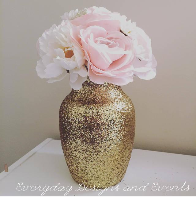 Wedding - centerpiece wedding centerpiece wedding decoration pink gold first birthday wedding favor pink and gold baby shower 50th birthday gold vase