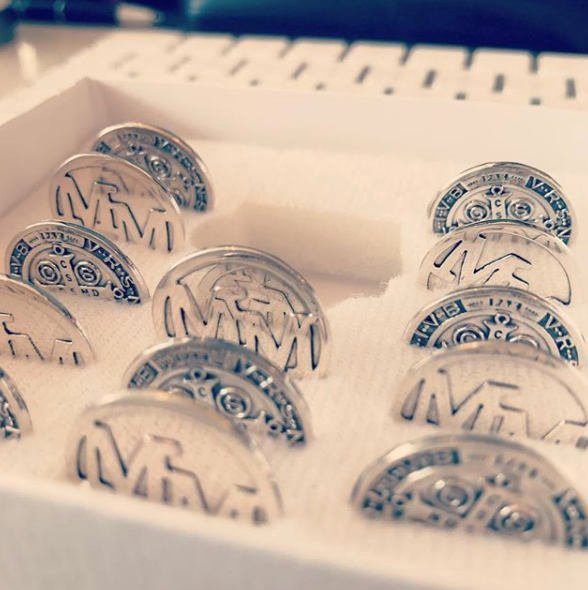 Wedding - Bride & Groom Name Initials 925 Sterling Silver Wedding Coins -- Made to Order --