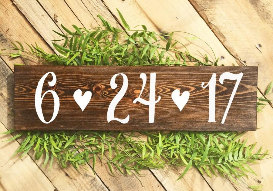 Wedding - Save the Date Sign, Engagement Photoshoot Prop, Wedding Signs, Rustic Wedding Signs, Baby Due Date Sign, Anniversary Sign, Wood Signs, Boho
