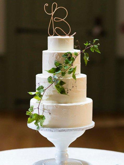 زفاف - Monogram Wire Wedding Cake Topper Rustic Chic Initial Custom Personalized Anniversary Cursive Reusable Metal Industrial Elegant Simple