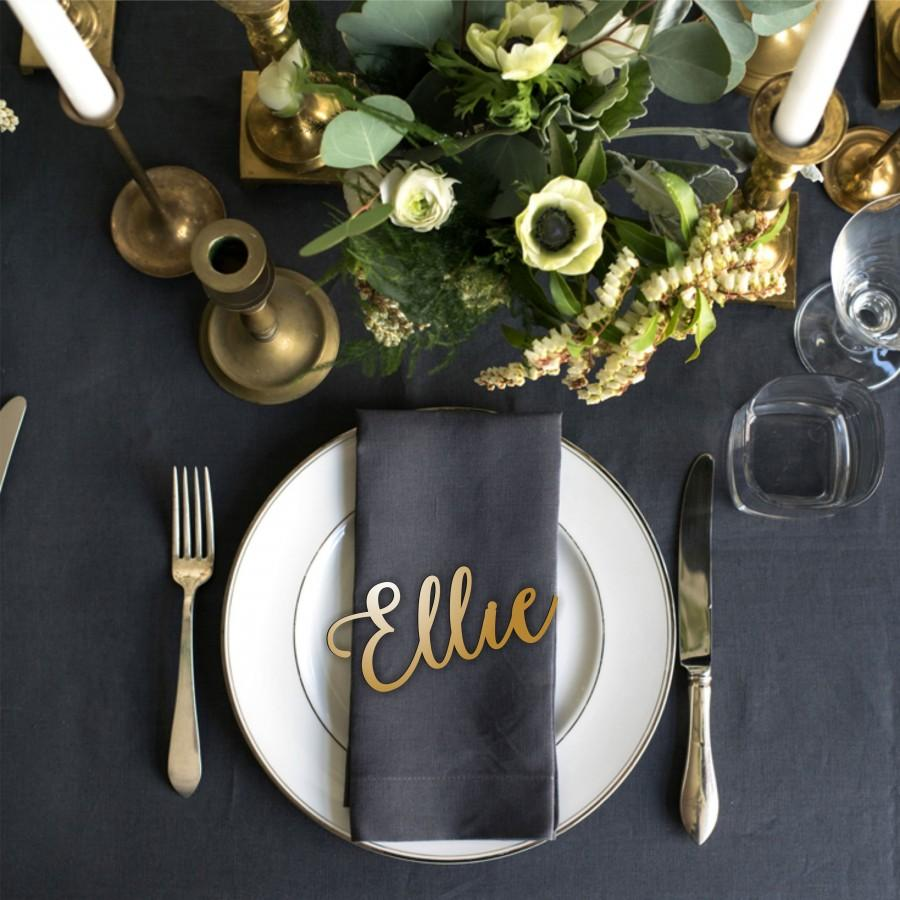 """Mariage - Name Place Setting - Wood Place Name  - Wood Wedding Place Setting - Please Enter your phone number in the """"NOTE to the seller"""""""