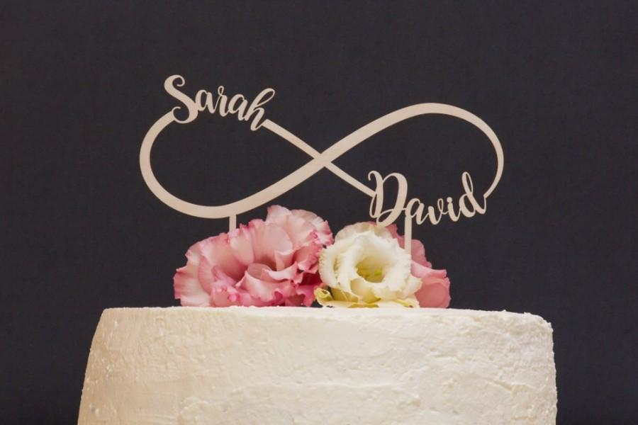 زفاف - Personalized Names Infinity Wedding Cake Topper, Custom Cake Topper, Unique Rustic Cake Topper, Cute Wedding Toppers, Infinity love sign