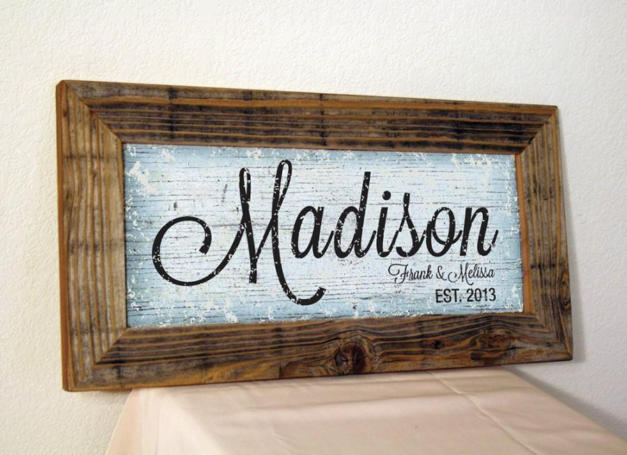 Wedding - Personalized Name sign . Family Last Name Sign . Custom Sign . Custom Family Sign . Established Sign . Family Established sign .  Name Sign