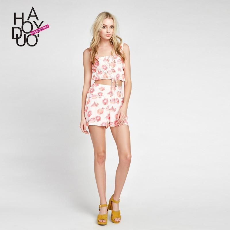 Hochzeit - 2017 summer dresses new fashion fruit print Pack hip casual shorts - Bonny YZOZO Boutique Store