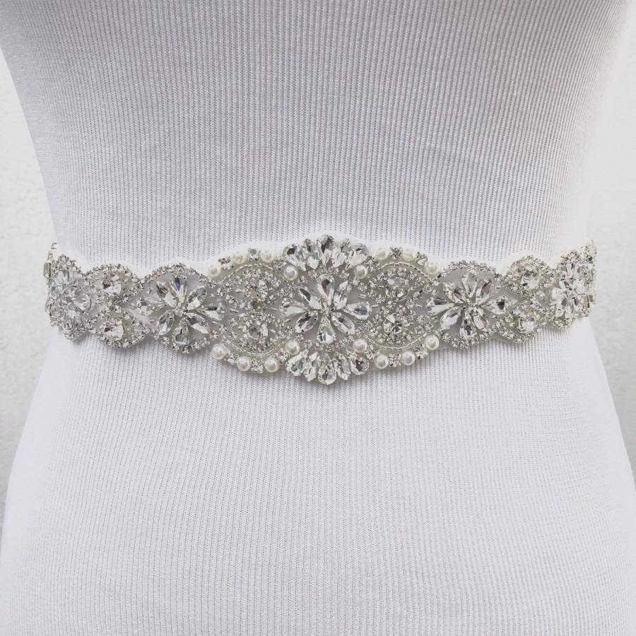 Mariage - Bridal Sash, Bridal Belt, Wedding Sash, Bridesmaid Belt, Crystal Sash, Rhinestone Belt, Wedding Dress Sash, Wedding Dress Belt, style 78