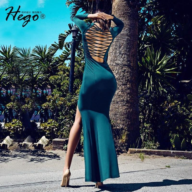 Mariage - Sexy Split Open Back Slimming Sheath Spring 9/10 Sleeves Formal Wear Dress - Bonny YZOZO Boutique Store