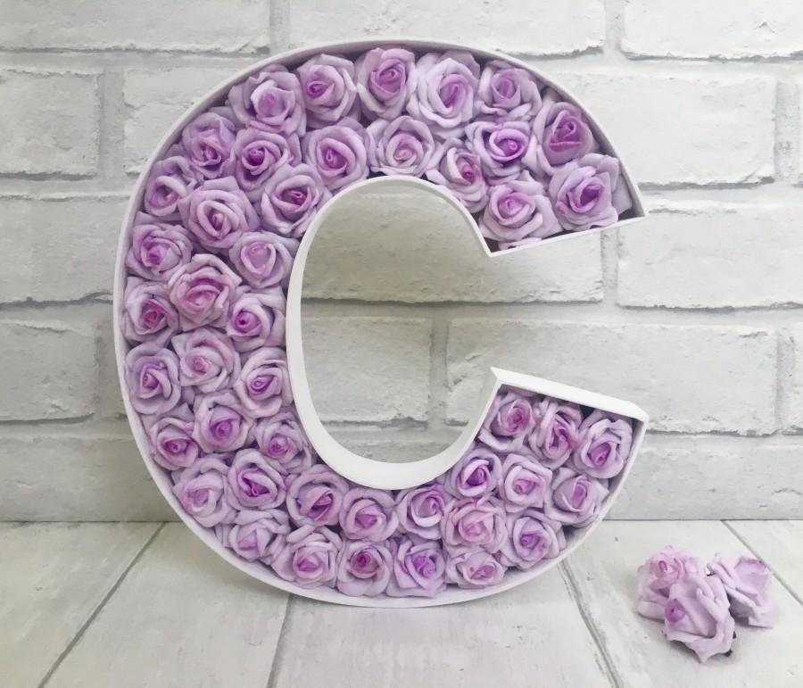 زفاف - Freestanding large lilac letter, Lilac wedding decor, Mr & Mrs sign, Personalised top table decor, Lavender home decor, Lavender nursery art