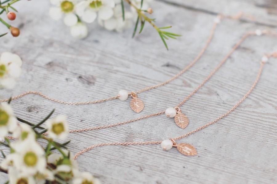 Wedding - Bridesmaid bracelet, rose gold, personalized bridesmaid gift, personalised jewellery, wedding jewelry, freshwater pearl, set of 1,2,3,4,5,6
