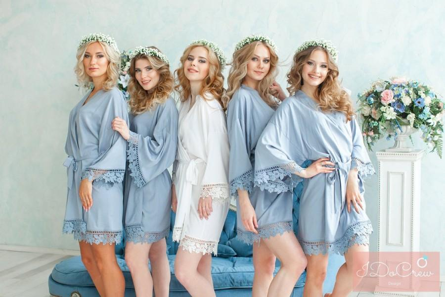 Hochzeit - SALE! Discount for Bulk Orders! Bridesmaid Robes, Personalized Robes, Cotton Bridesmaid Robes, Bridal Gifts, Bridesmaid Gift, Set of robes