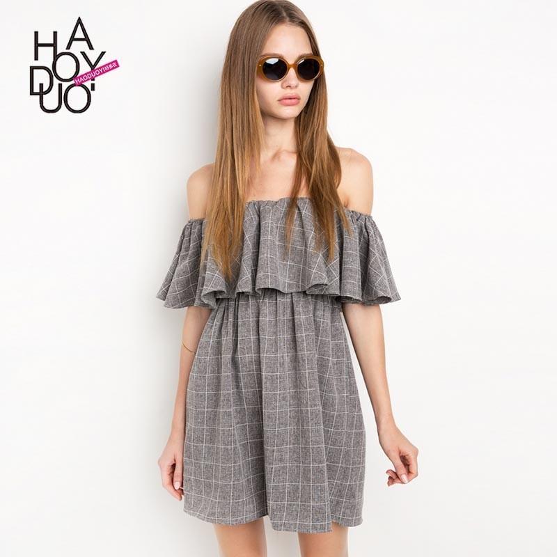 Wedding - Must-have Vogue Bateau Trendy Summer Stripped Dress - Bonny YZOZO Boutique Store