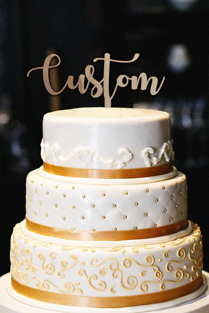 Mariage - Personalized Wedding Cake Topper, Custom Wedding Cake Topper, Personalized Cake Topper for Wedding, Wood Rustic Wedding Cake Topper