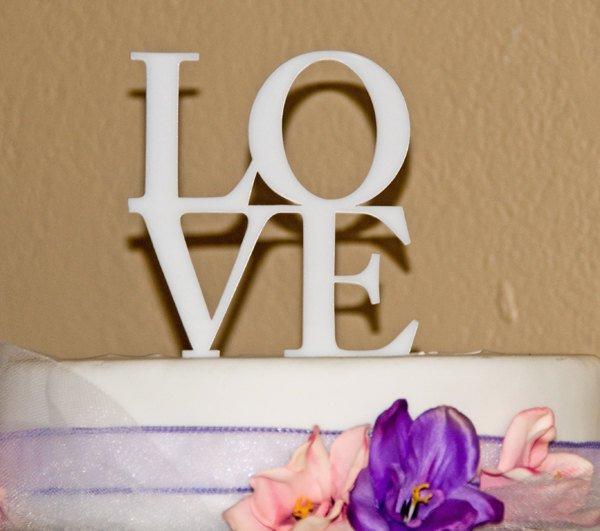 Hochzeit - LOVE Wedding Cake Topper -LOVE in block letters cake topper - block letter cake topper - LOVE cake topper- wedding cake topper