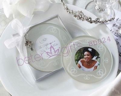 Свадьба - BeterWedding Bridesmaids Handcrafts White Photo Frame Coasters BD024