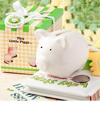Wedding - Ceramic Mini-Piggy Bank (Sold in a single piece) - BeterWedding