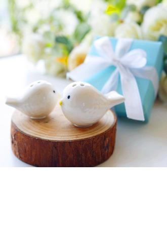 Mariage - Love Birds Salt and Pepper Shakers Set in Tiffany Blue GiftBox (Set of 2) - BeterWedding