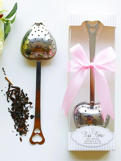زفاف - Beter Gifts® Heart Shape Tea Strainer