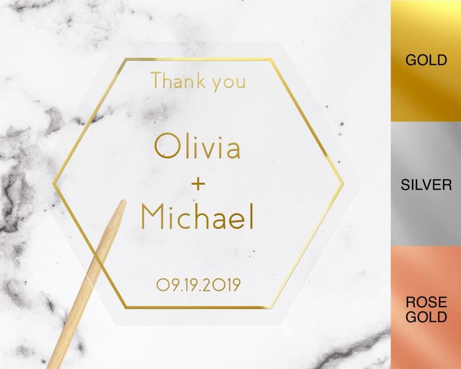 Wedding - Foiled Wedding stickers, Personalised wedding stickers for envelopes, Foiled Wedding stickers for favors, Foiled Wedding envelope seals