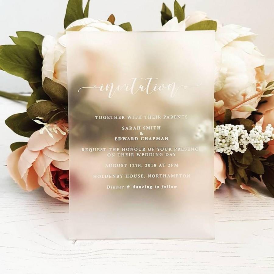 Wedding - Bespoke Perspex Wedding Invitation
