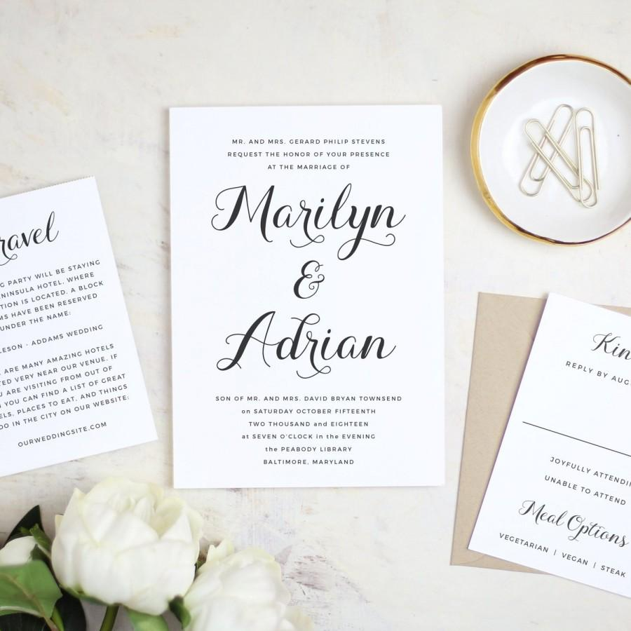 Wedding - Instant Printable Wedding Invitation Template