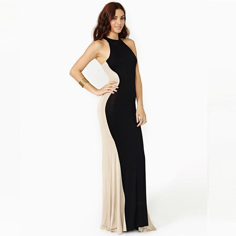 Wedding - Sexy Attractive Split Front Solid Color Slimming Sheath Scoop Neck Sleeveless Racerback Sleeveless Top Dress - Bonny YZOZO Boutique Store