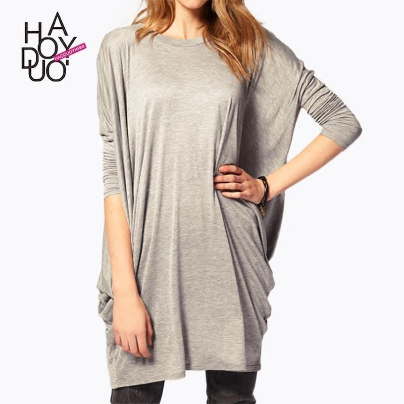 Свадьба - Autumn and winter women's wear new bottoming shirt jacket in a simple fashion long batwing coat loose long sleeve t-shirt woman - Bonny YZOZO Boutique Store