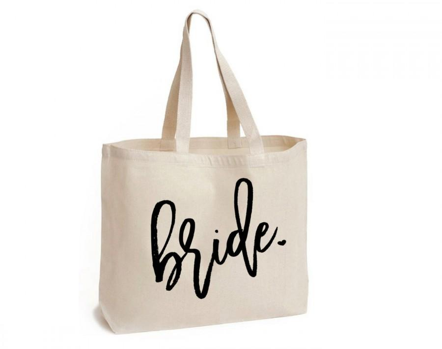 Mariage - Bride Tote, Bridesmaid Tote, Bridal Tote, Bride Gift, Bridal Party Totes, Engagement Gift, Bridal Shower Gift, Future Mrs,