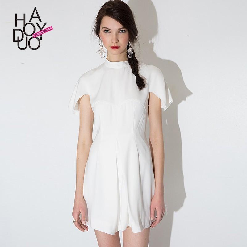 Wedding - Strapless Vogue Sweet Split Front High Neck Summer Dress Shawl - Bonny YZOZO Boutique Store