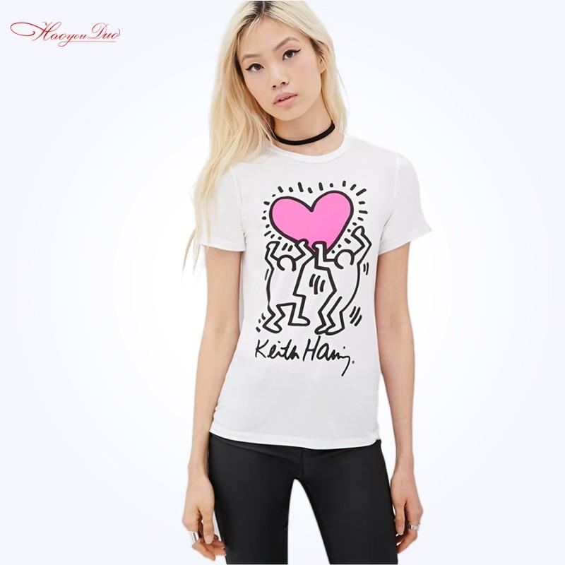 زفاف - School Style Must-have Printed Slimming Cartoon Summer T-shirt - Bonny YZOZO Boutique Store