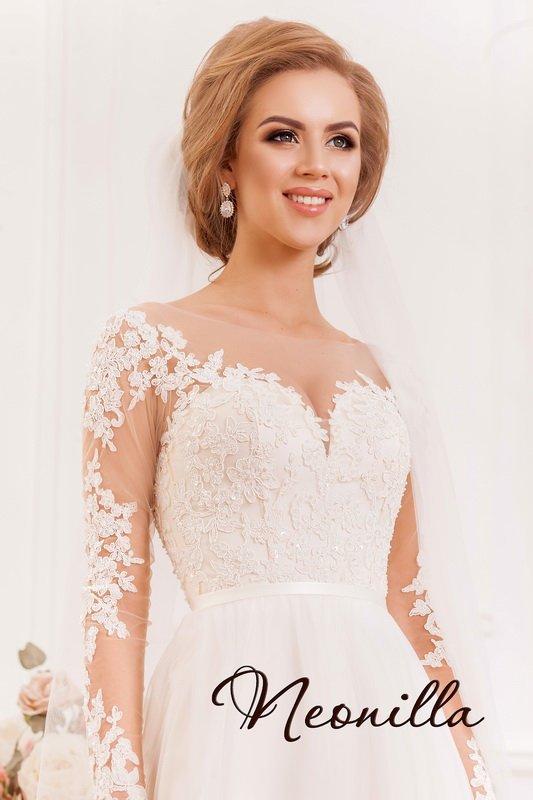 Wedding - Wedding Dress Long Sleeve, Boho Wedding Dress, Tulle Wedding Dress, Beach Wedding Dress, Unique Wedding Dress, Lace edding Dress, Wedding