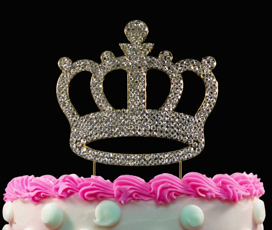 Gold Crown Birthday Cake Toppers Bling Princess Topper Baby Shower