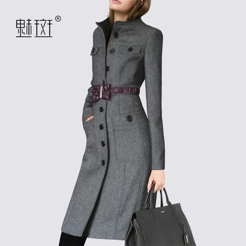 Wedding - 2017 winter new plus size ladies coats casual slim wool coat long bi-fold wallets - Bonny YZOZO Boutique Store