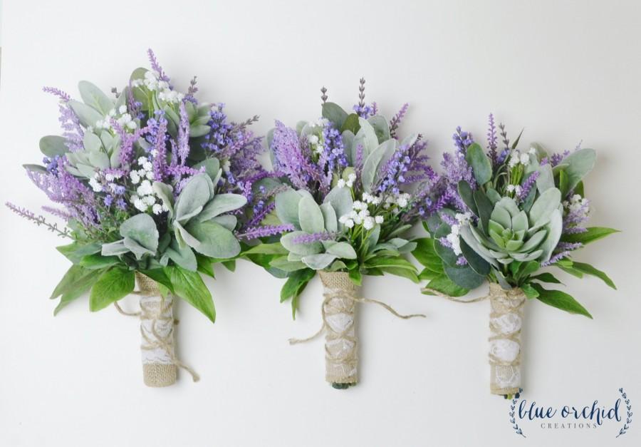 Hochzeit - wedding bouquet, wedding flowers, boho bouquet, bridal bouquet, lavender bouquet, wildflower bouquets, wedding flower set, purple, lavender