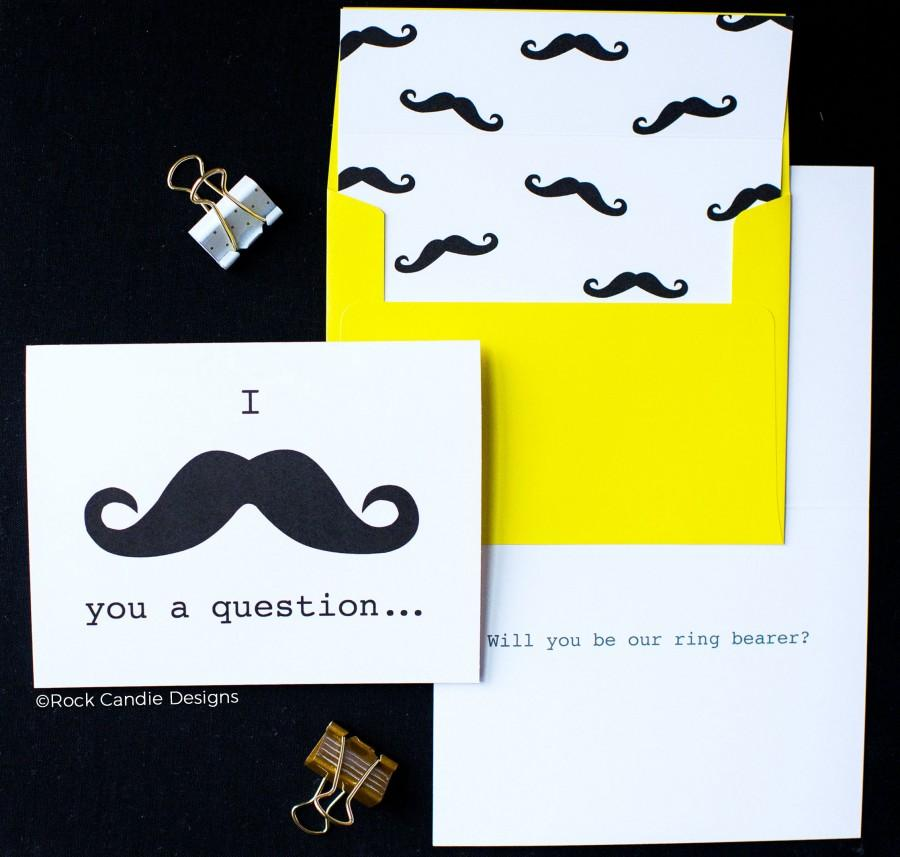 Hochzeit - I Mustache You A Question Card
